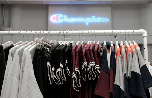 Inside Champion's new NYC store.