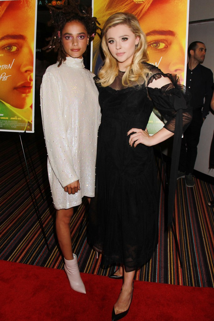 """- New York, NY - 8/1/18 -A Special New York Screening of """"THE MISEDUCATION OF CAMERON POST"""". The Film stars Chloe Grace Moretz and will open in Theaters Aug 3 2018 -Pictured Sasha Lane and Chloe Grace Moritz -Photo by: Dave Allocca/Starpix -Location: Cinema 123"""