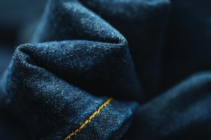 A recycled denim by Evrnu.