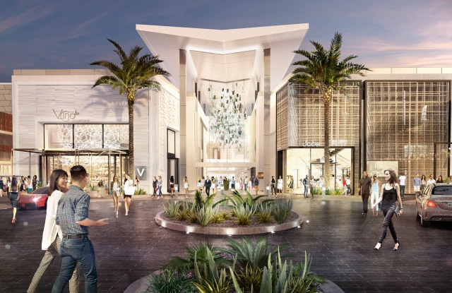 A rendering of the new entrance at Scottsdale Fashion Square.