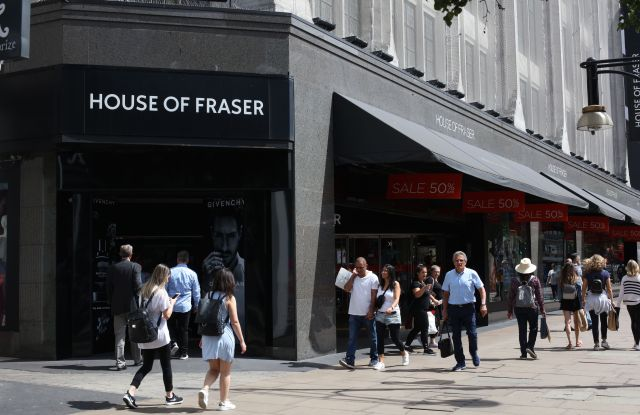 House of Fraser flagship store in Oxford Street