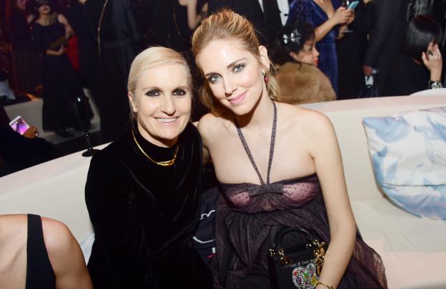 Dior's artistic director of women's collections Maria Grazia Chiuri and Chiara Ferragni.