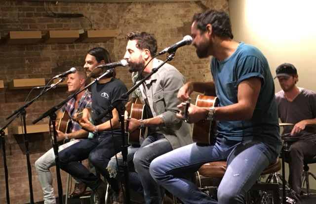 Old Dominion performs at the Frye store in SoHo.