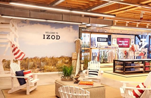 The Izod showroom in Amsterdam.