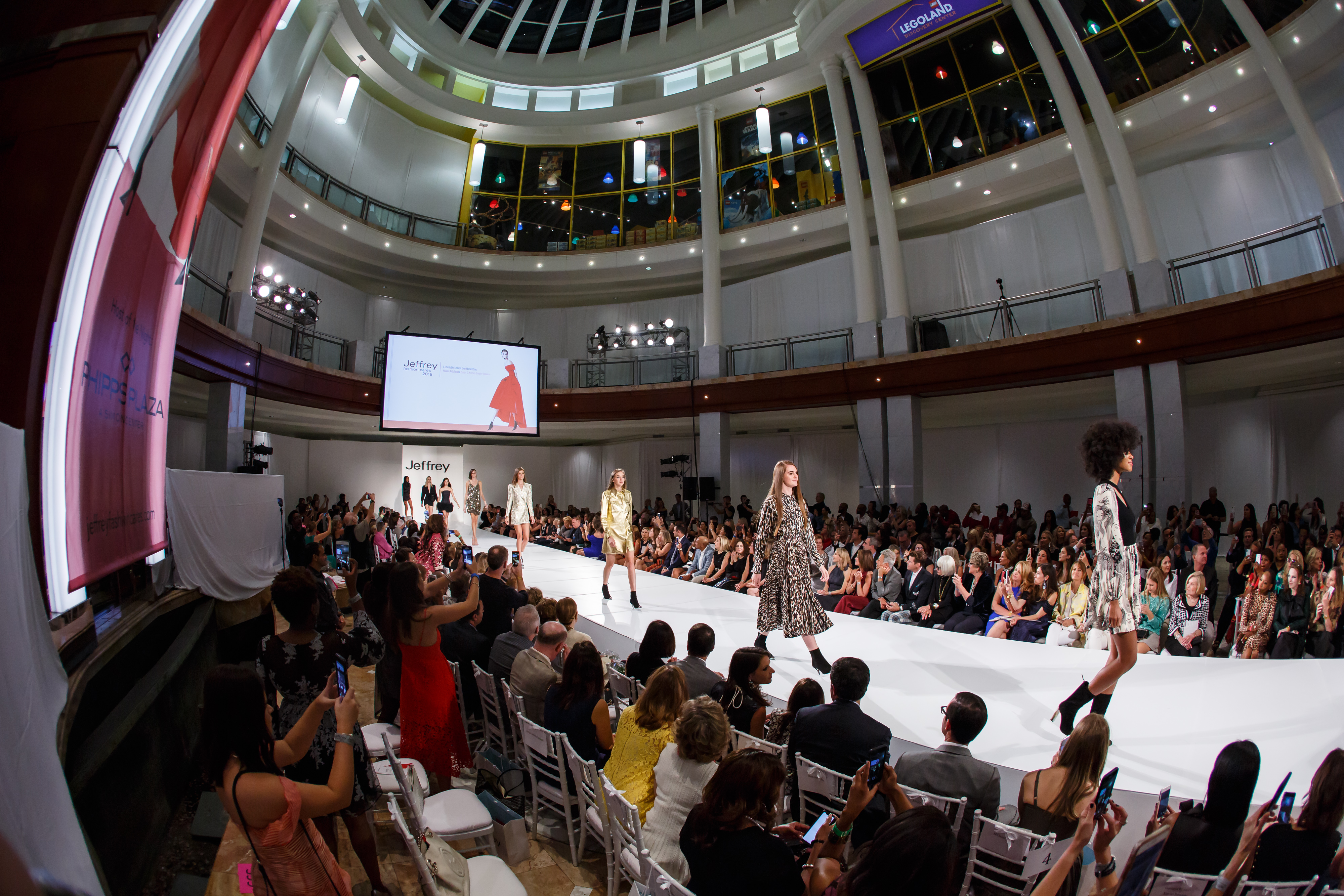 The Jeffrey Fashion Cares runway show at Phipps Plaza.