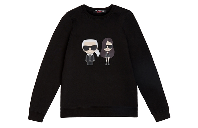 A sweatshirt from the Karl Lagerfeld x Kaia line.