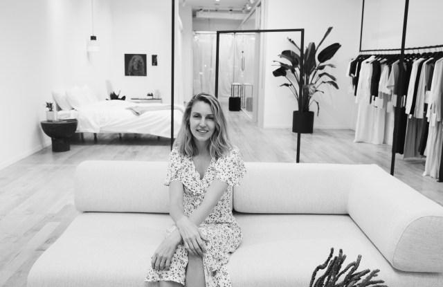 Ashley Merrill at Lunya's new store in Manhattan.