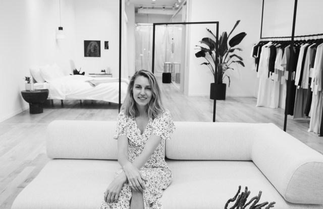 Lunya founder Ashley Merrill at the brand's Manhattan store.