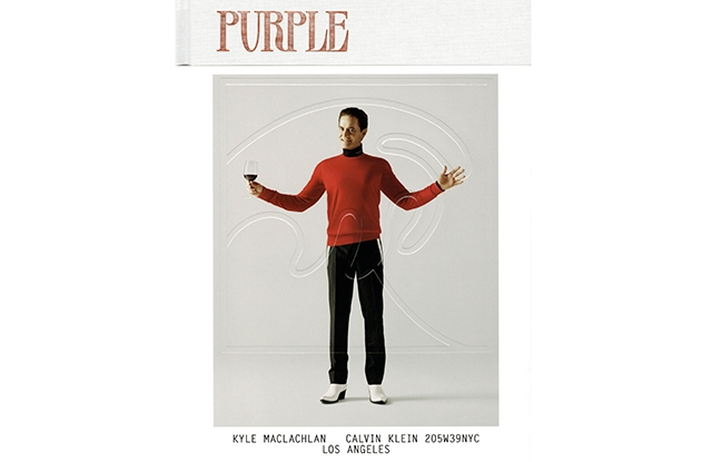 Kyle MacLachlan in Calvin Klein on one of the Purple covers.