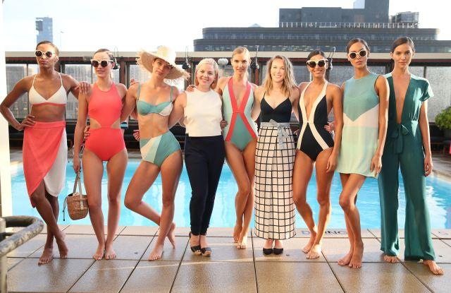 Jaime Barker, Megan BolchFlagpole presentation, Spring Summer 2017, New York Fashion Week, USA - 14 Sep 2016