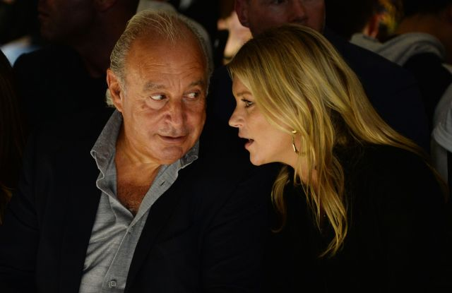 Sir Philip Green and Kate MossTop Shop show, Front Row, Spring Summer 2018, London Fashion Week, London, UK - 17 Sep 2017