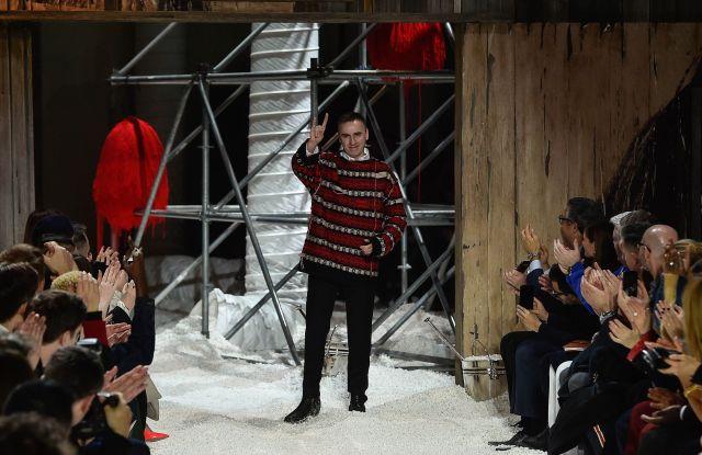 Raf Simons on the catwalkCalvin Klein show, Runway, Fall Winter 2018, New York Fashion Week, USA - 13 Feb 2018