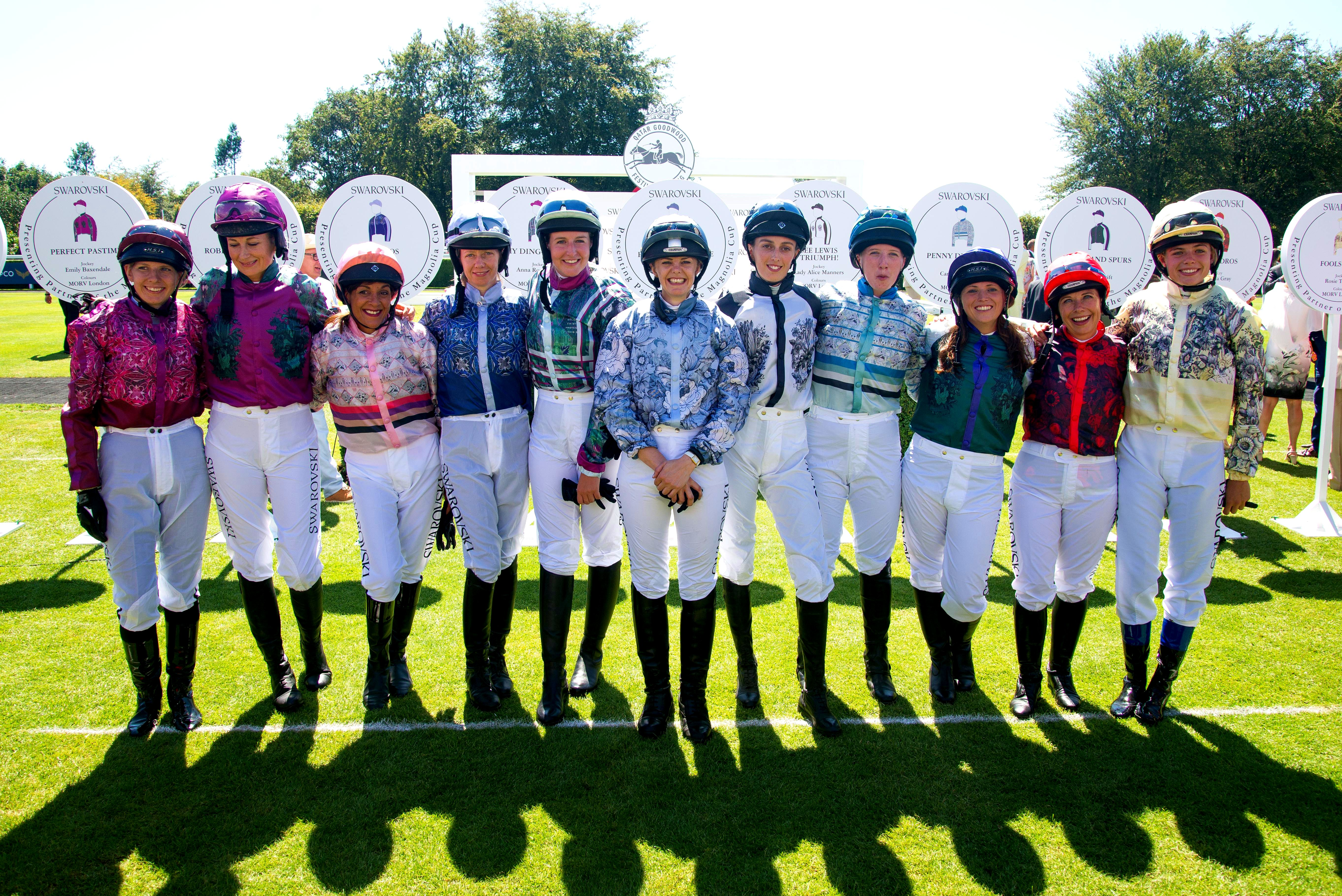 Magnolia Cup Jockeys at Qatar Glorious Goodwood Festival, West Sussex, UK - 02 Aug 2018