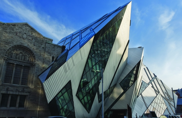 The Michael Lee-Chin Crystal entrance of the ROM.