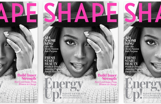 Shape's September cover featuring Aja Naomi King.
