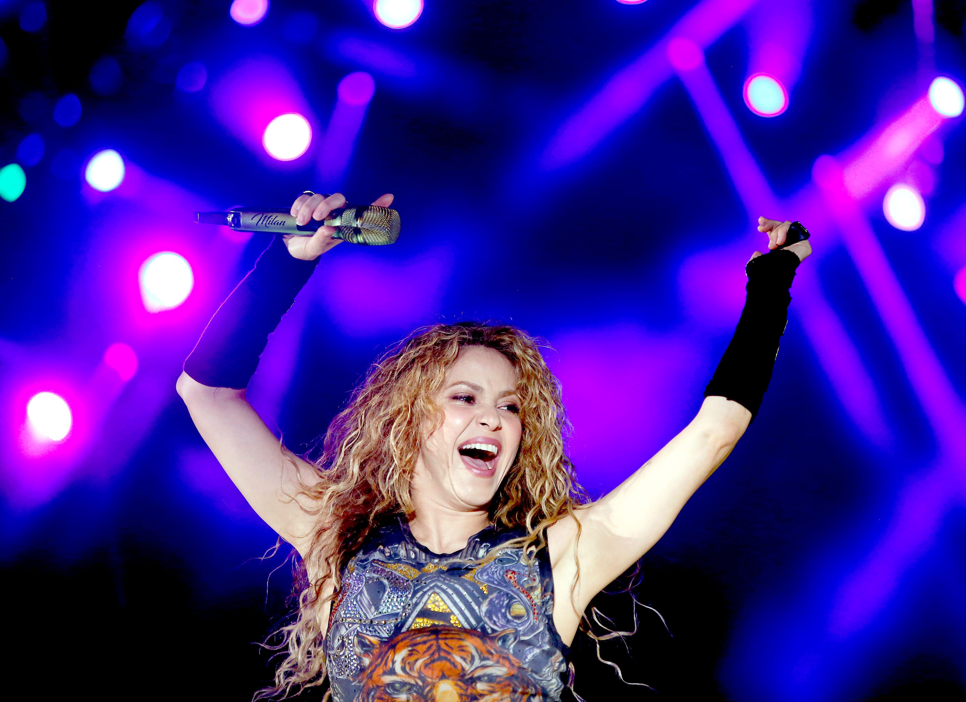 ShakiraShakira in concert, Cedars, Lebanon - 13 Jul 2018Colombian singer Shakira performs on stage during a concert at the Cedars International Festival 2018 at the Cedars mountain, northeastern Lebanon, 13 July 2018.