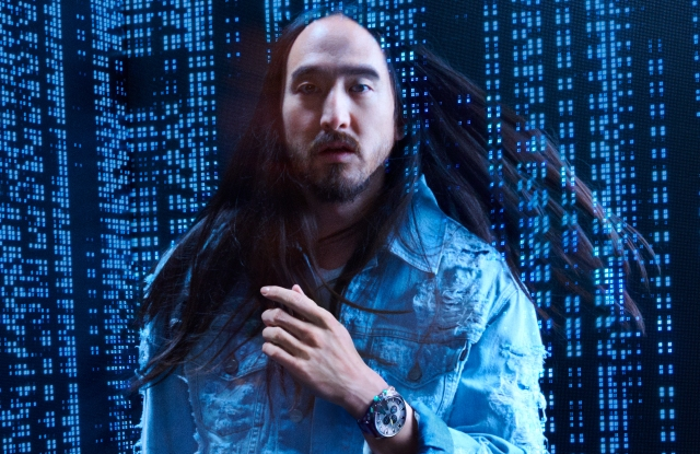 Steve Aoki in Diesel's new transparency watch campaign.