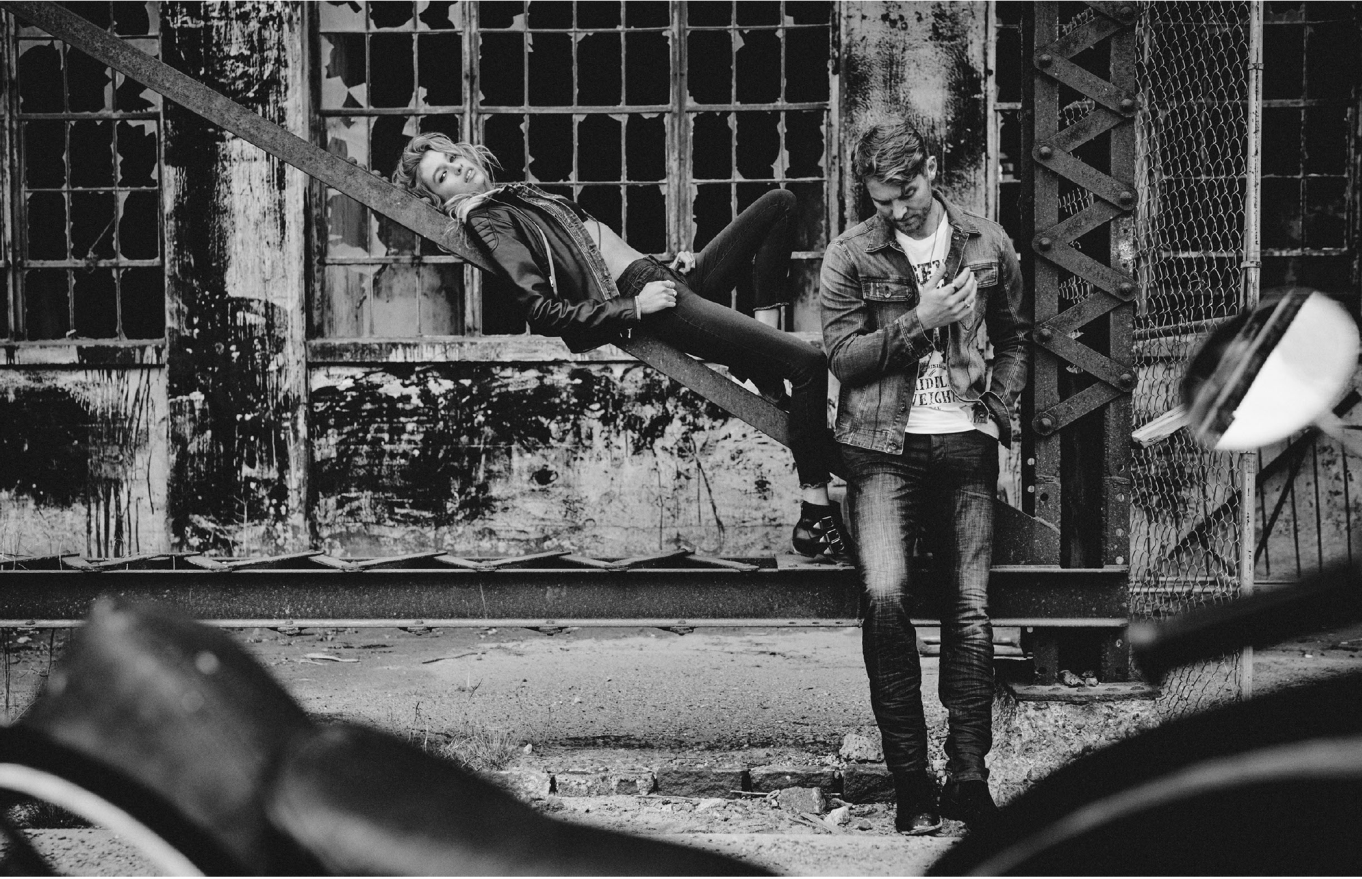 Brett Young and Stella Maxwell in the fall William Rast ads.