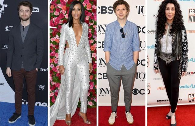 Daniel Radcliffe, Kerry Washington, Michael Cera and Cher.