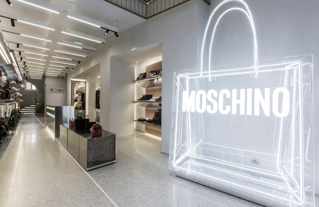 The interior of the Moschino store on Rue Saint-Honoré.