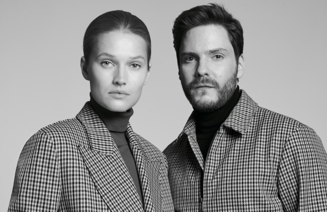 "Toni Garrn and Daniel Brühl are in the ad campaign for the Boss ""Made in Germany"" capsule collection."