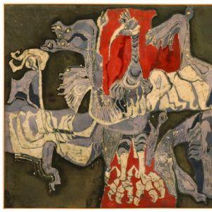 Suzannah Olieux, 'Welvaart en verval,' 1975, MoMu Collectie.