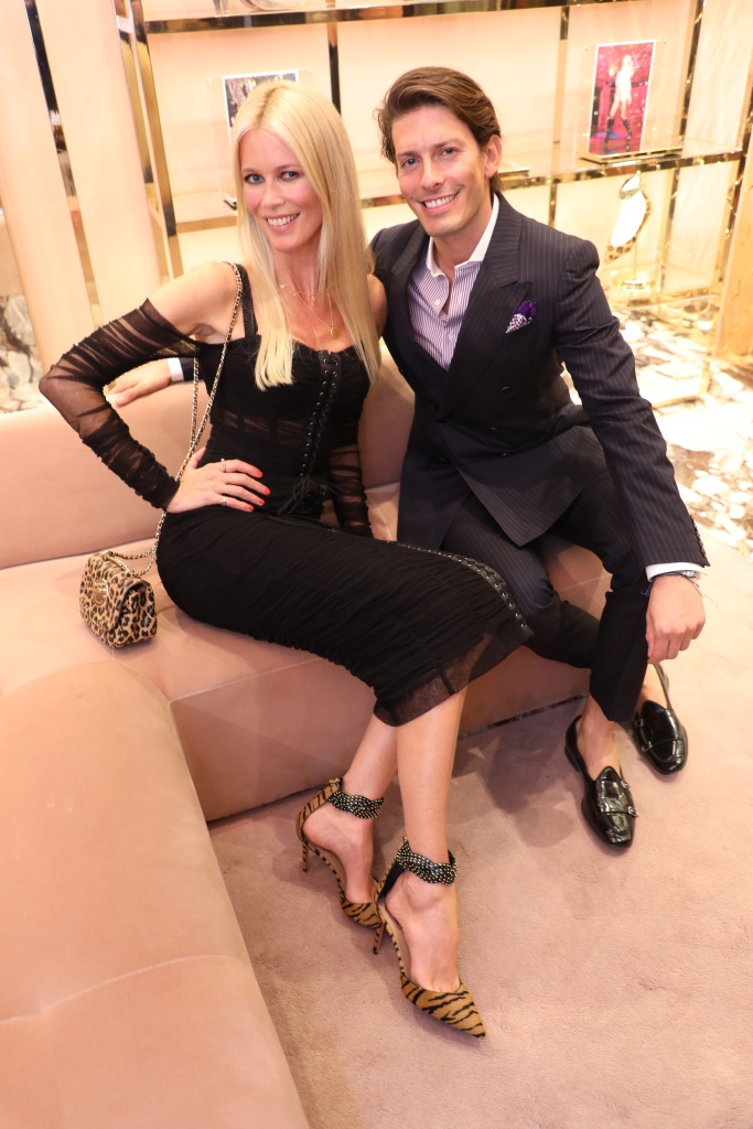 Claudia Schiffer and Edgardo Osorio.