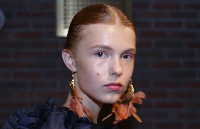 The beauty look at Ulla Johnson's spring 2019 show.