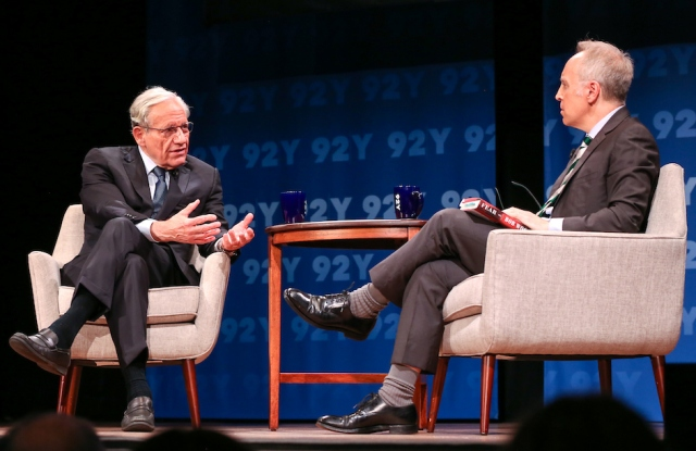 Bob Woodward speaking with Jacob Weisberg at the 92nd Street Y.