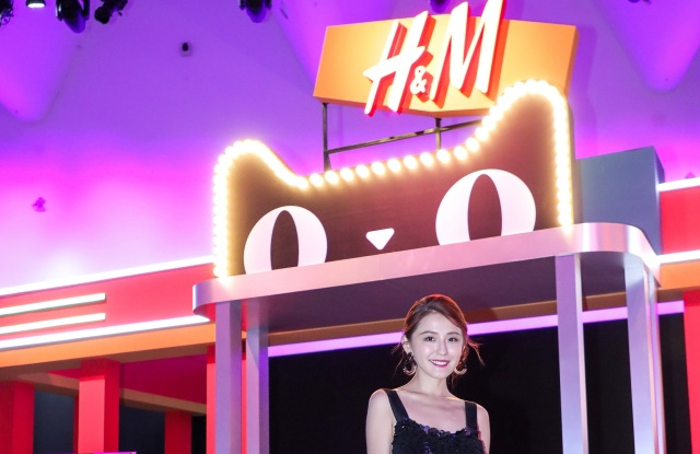 Actress Rayza at H&M's Tmall Super Brand Day event.