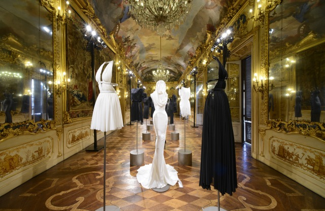 The Alaïa exhibition at Palazzo Clerici in Milan.
