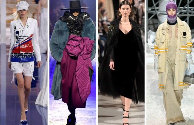 From Left: Looks from Ralph Lauren, Marc Jacobs, Oscar de la Renta, and Calvin Klein