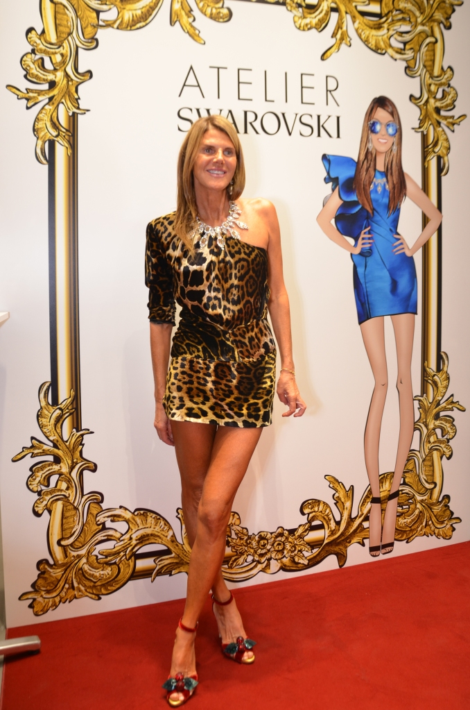 Anna Dello Russo at the launch event of her collection with Atelier Swarovski.