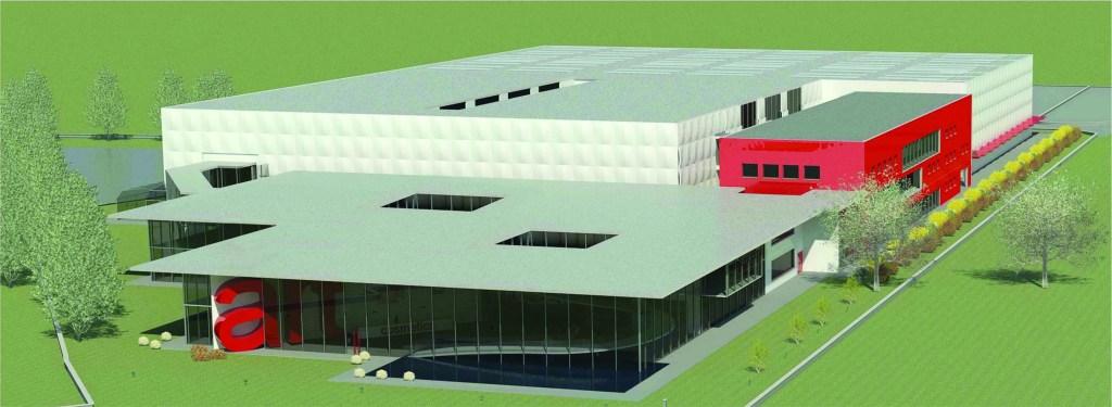 The rendering of ArtCosmetics' new plant.