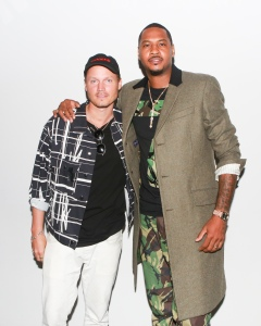 Rochambeau's Laurence Chandler with Carmelo Anthony