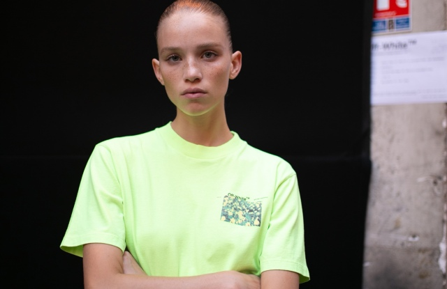 Backstage at Off-White RTW Spring 2019