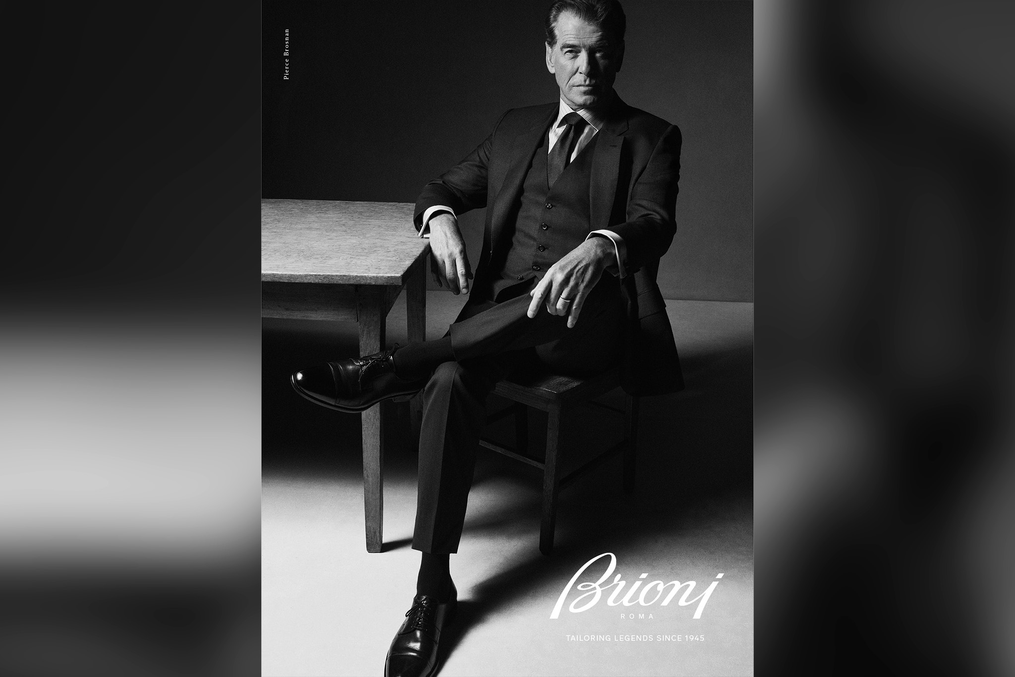 Pierce Brosnan in the new Brioni ads.