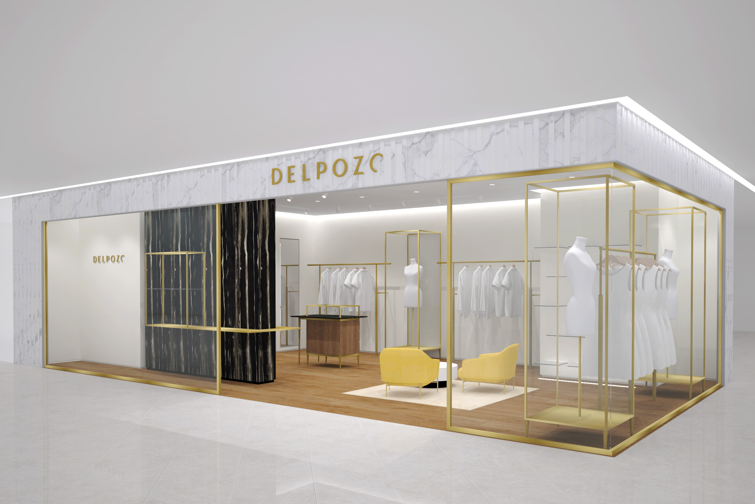 A rendering of the Delpozo store in Lotte Busan.