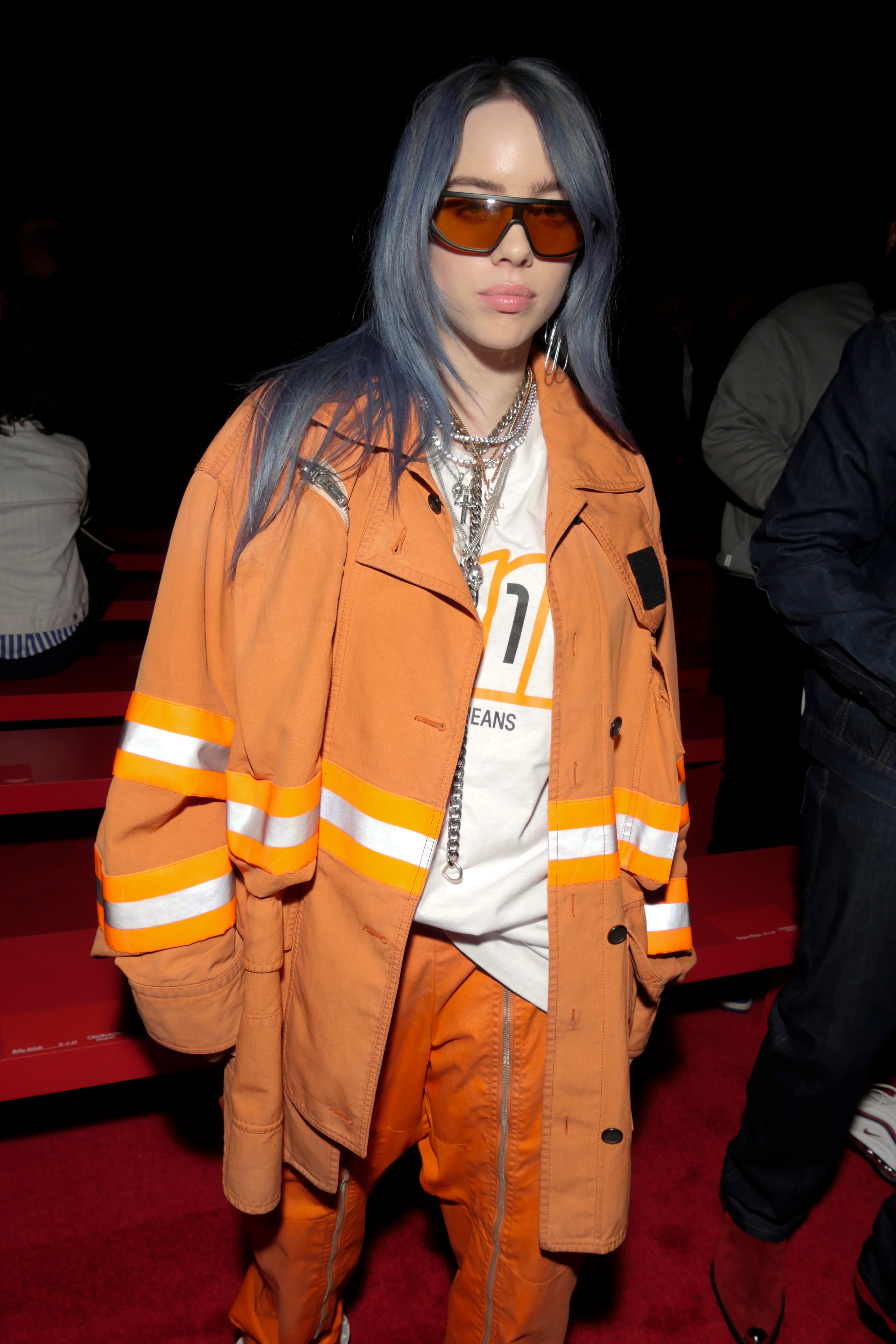 Billie Eilish in the front rowCalvin Klein show, Front Row, Spring Summer 2019, New York Fashion Week, USA - 11 Sep 2018