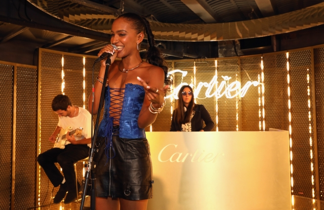 Alewya performs at Cartier's Party during London Fashion Week