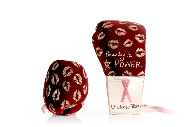 Charlote Tilbury's boxing gloves for Bloomingdale's.