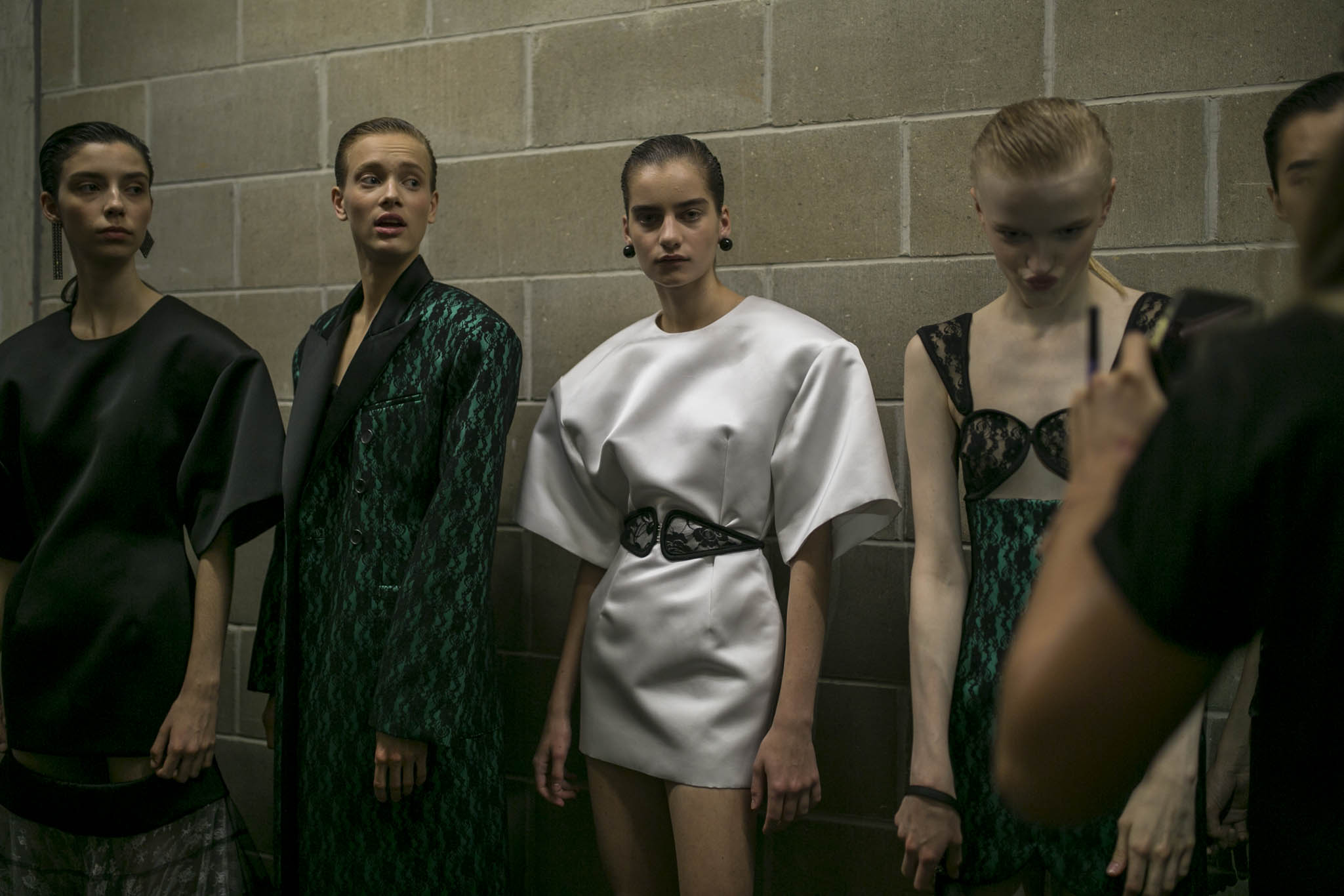Backstage at Christopher Kane RTW Spring 2019