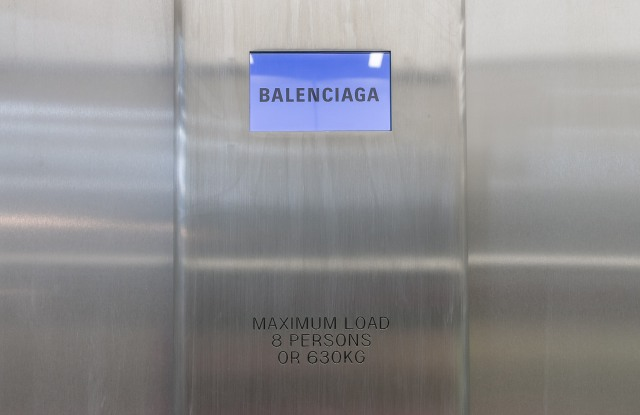 The Balenciaga x Dover Stret Market London installation