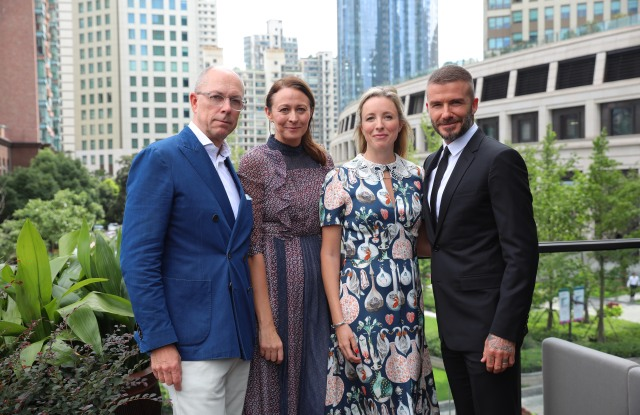Dylan Jones, Caroline Rush, Stephanie Phair & David Beckham at The Middle House Shanghai