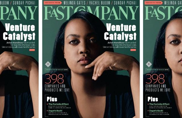 Fast Company's October issue featuring venture capitalist Arlan Hamilton.