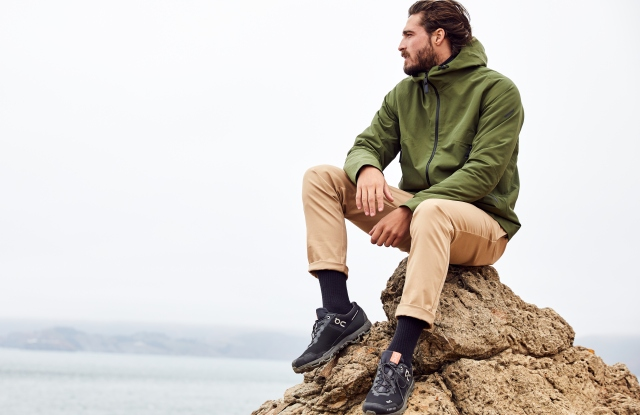 "Hill City's hooded mountain jacket and ""everyday"" pant."