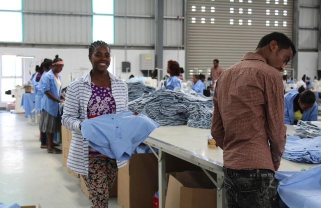 Inside PVH's facility in Hawassa, Ethiopia.