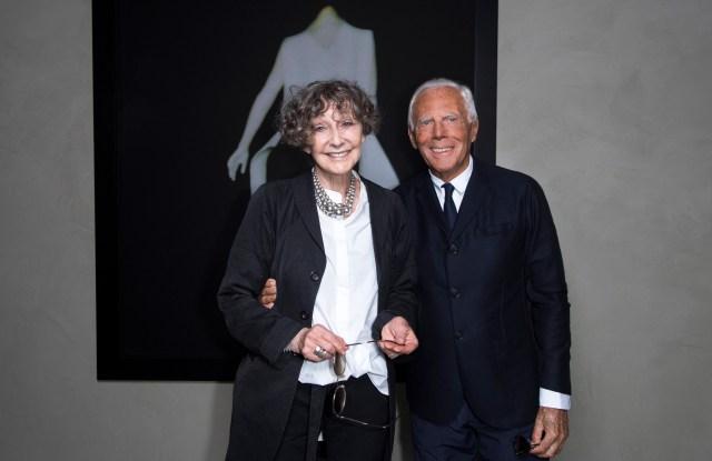 Sarah Moon and Giorgio Armani.