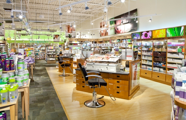 Pharmaca's beauty assortment is far from the drugstore norm.