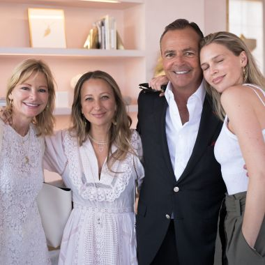 Tina Caruso, Jennifer Meyer, Rick Caruso and Sara Foster in Meyer's Palisades Village store